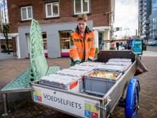De Hengelose voedselfiets is populair: 'Storten kost anders 1,20 euro'