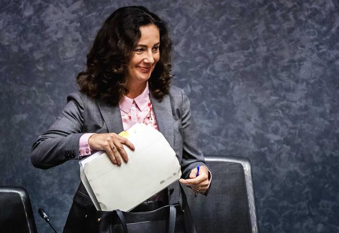 Burgemeester Femke Halsema tijdens een raadsvergadering.