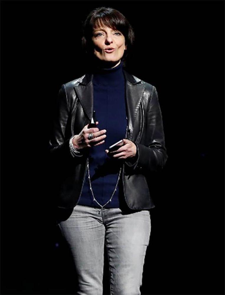Regina Dugan tijdens de F8-conferentie