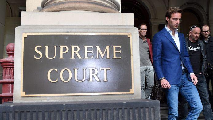Giedo van der Garde bij het Supreme Court in Melbourne.