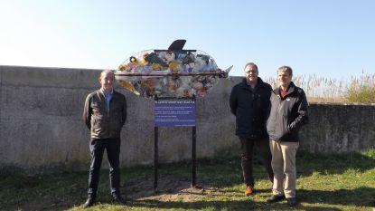 Vis volgepropt met plastic is nieuw kunstwerk op Rupeldijk