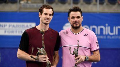 Murray klopt Wawrinka en wint European Open in Antwerpen, waarna hij het niet droog houdt
