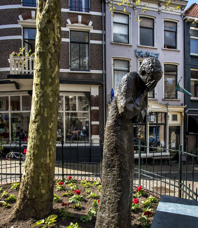 Joods Monument aan de Kitty de Wijzeplaats in Nijmegen. Beeld null