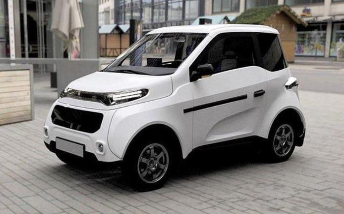 De elektrische Russische auto Zetta.