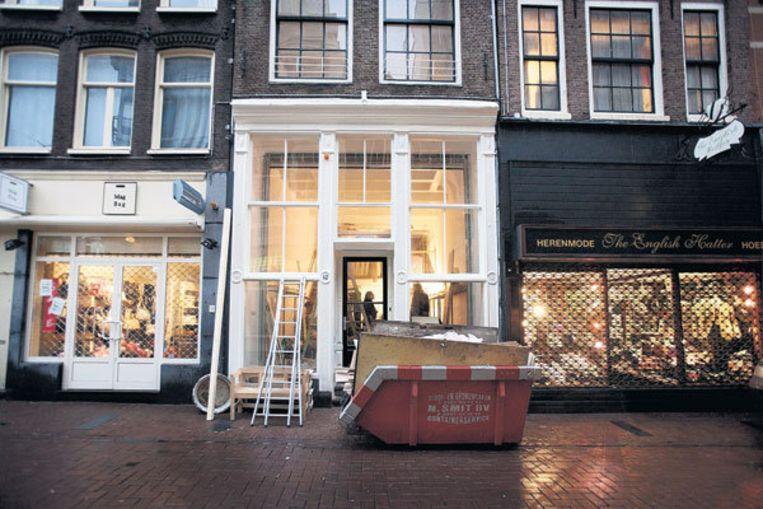 Rijksmonument Heiligeweg 42 wordt gerestaureerd, maar de oude apothekerskast is spoorloos. Foto Olivier Middendorp Beeld