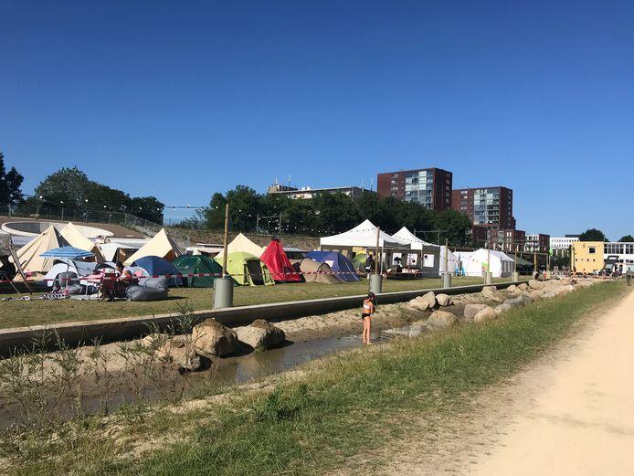 De Buurtcamping in Tilburg, in het pas geopende Spoorpark.