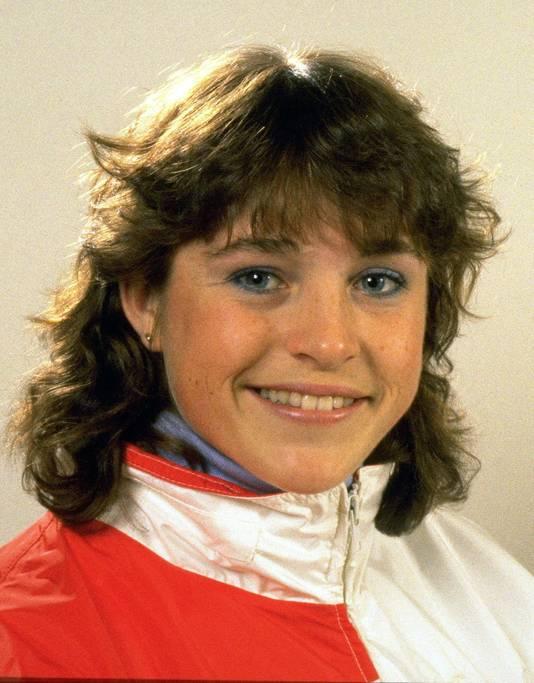 Yvonne van Gennip in de tijd van de Olympische Winterspelen van Calgary.