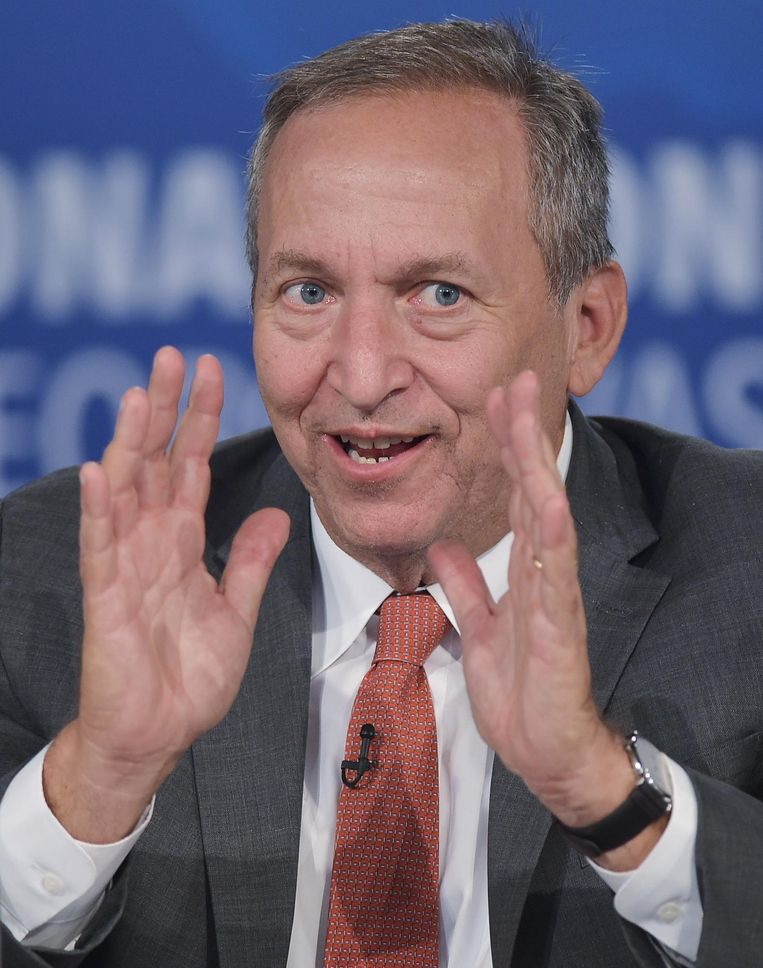De Amerikaanse hoogleraar Larry Summers. Hij was minister van Financiën onder Clinton, voormalig hoofdeconoom van de Wereldbank en president van Harvard. Beeld null