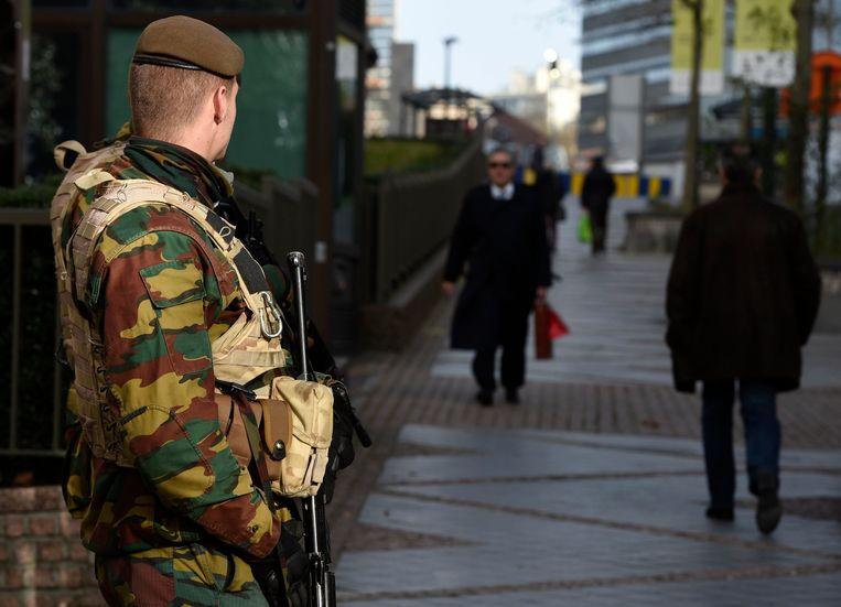 Militairen aan de Europese instellingen in Brussel.