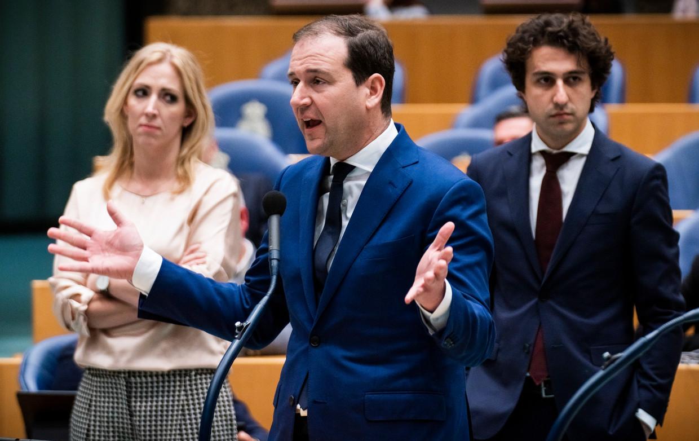 Lilian Marijnissen (SP), Lodewijk Asscher (PvdA) en Jesse Klaver (GroenLinks) eerder dit jaar tijdens het Klimaatdebat in de Tweede Kamer.  Beeld Freek van den Bergh