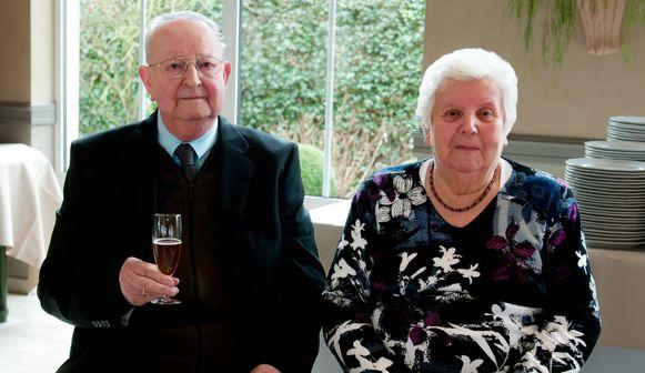 Jos en Gusta tijdens hun 60ste huwelijksverjaardag in 2014.