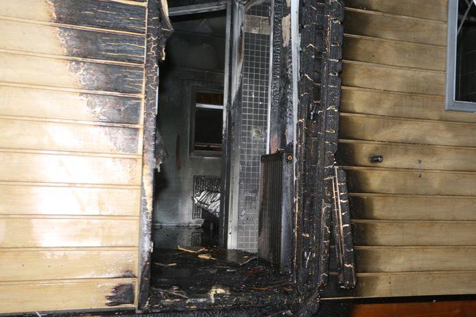 Brand in chalet Maaszicht