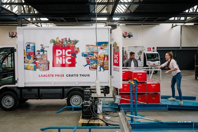 De vrachtwagentjes van Picnic zijn vooral in de Randstad een bekend verschijnsel.