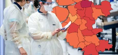 KAART I De afgelopen week weer meer besmettingen in Oost-Nederland, maar de groei neemt wel iets af