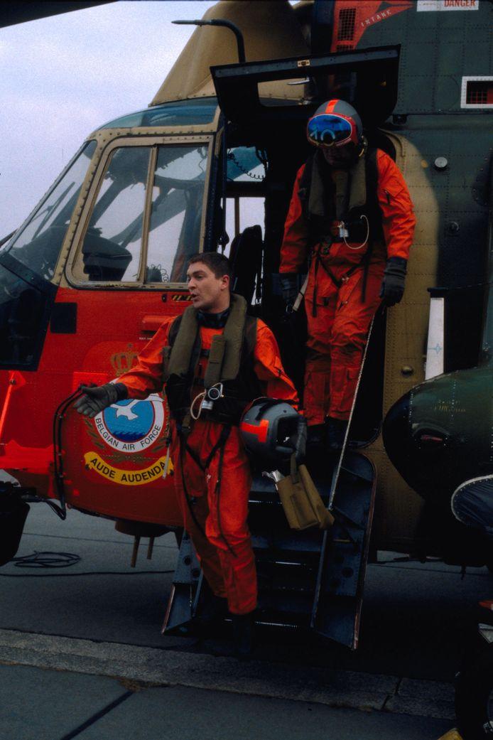 Tom Van Bauwel en  Wim Opbrouck als  Stef en Nick in Windkracht 10, uit 2003.