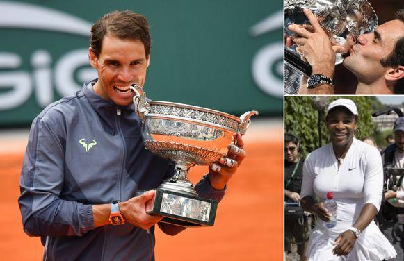 Nadal, Federer en Serena Williams.