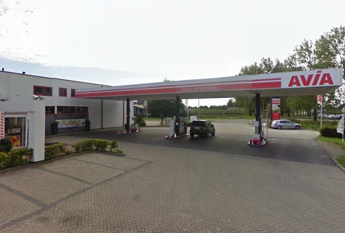 Het onbemande tankstation in Yerseke.