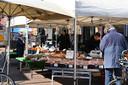 Rustig op de markt in Boxmeer.