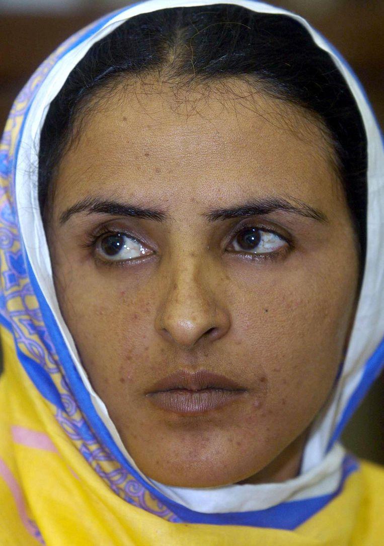 'Een andere dorpsraad in Punjab en een ander meisje verkracht. We bevinden ons nog steeds in 2002,' schreef Mukhtiar Mai op haar Twitter-pagina Beeld afp