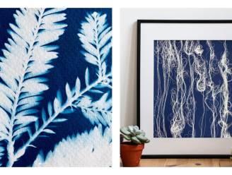 Cyanotypie is het nieuwe tie-dye: zo maak je je eigen blauwdrukkunst