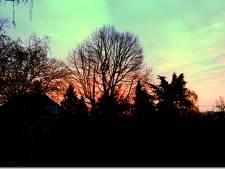 Zonsopkomst zorgt voor een kleurrijk plaatje in Velp