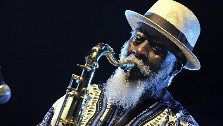 Freejazz saxofonist Pharoah Sanders. Beeld anp