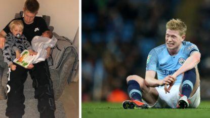 """Kevin De Bruyne staat zes weken aan de kant met nieuwe knieblessure: """"Gelukkig heb ik deze twee kleine jongens"""""""