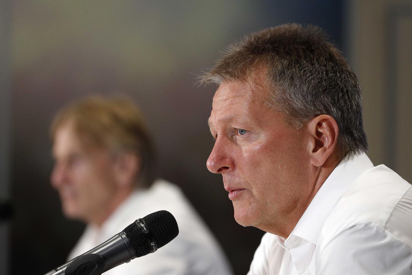 Heracles-trainer Frank Wormuth baalde van de nederlaag en van de afwezigheid van Van der Water.
