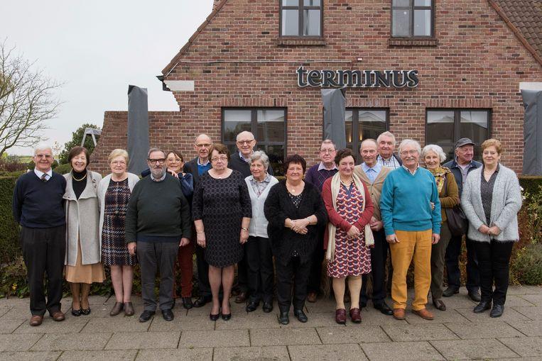 De jarigen vierden hun 70ste verjaardag met hun partners in restaurant Terminus.