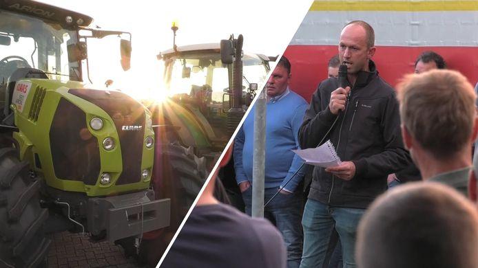 Videostill Distributiecentrum Aldi in Groenlo bezet door boeren