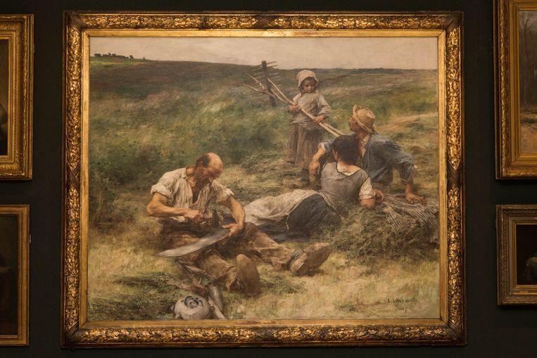 Léon-Augustin Lhermitte, Het hooien (1887). Beeld Cigdem Yuksel