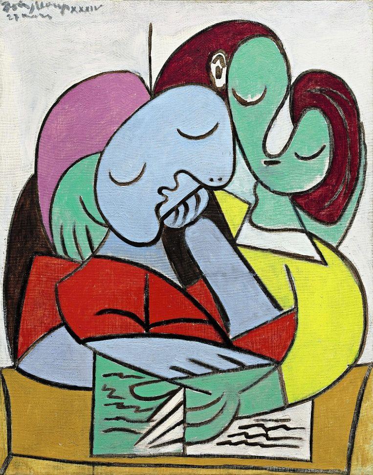Het schilderij Femmes lisant (Deux personages) van Pablo Picasso. Foto Beeld epa