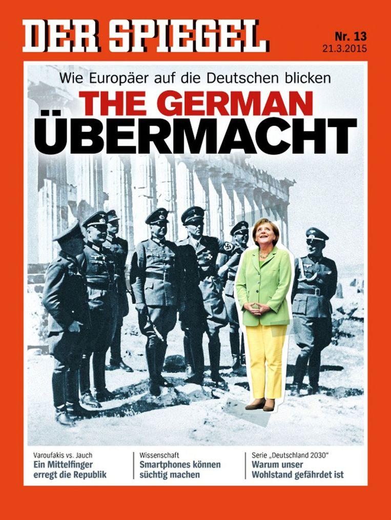 De controversiële cover van Der Spiegel uit maart dit jaar. Beeld ap