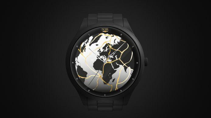 """Prototype de la montre """"Résilience 2020"""" réalisée en collaboration avec NOIR Artist."""