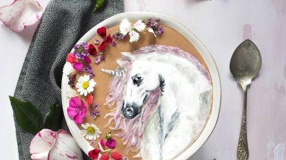 Smullen! Deze kunstenares gebruikt haar ontbijt als canvas