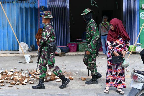 Soldaten in Palu.