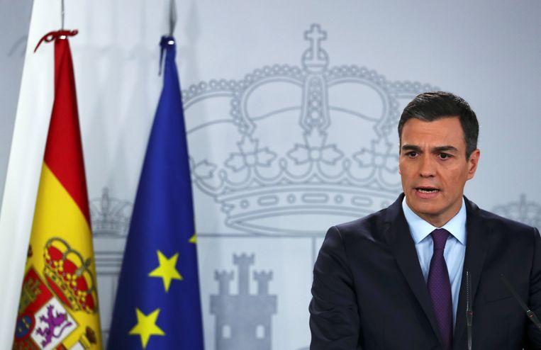 Pedro Sánchez staat sinds vorig jaar aan het hoofd van een minderheidsregering.