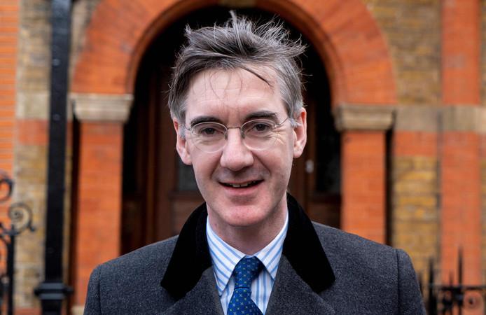 Het conservatieve Lagerhuislid Jacob Rees-Mogg, voorzitter van de European Research Group (ERG).
