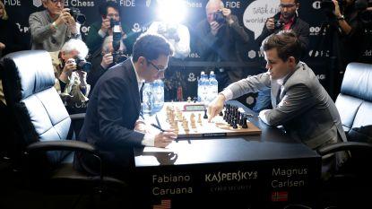 Carlsen en Caruana vechten het in tiebreak uit na verrassende remise