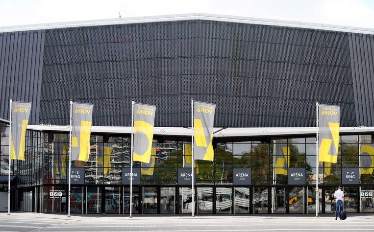 Rotterdam Ahoy moet de agenda nu leegruimen voor het Eurovisie Songfestival. Beeld ANP