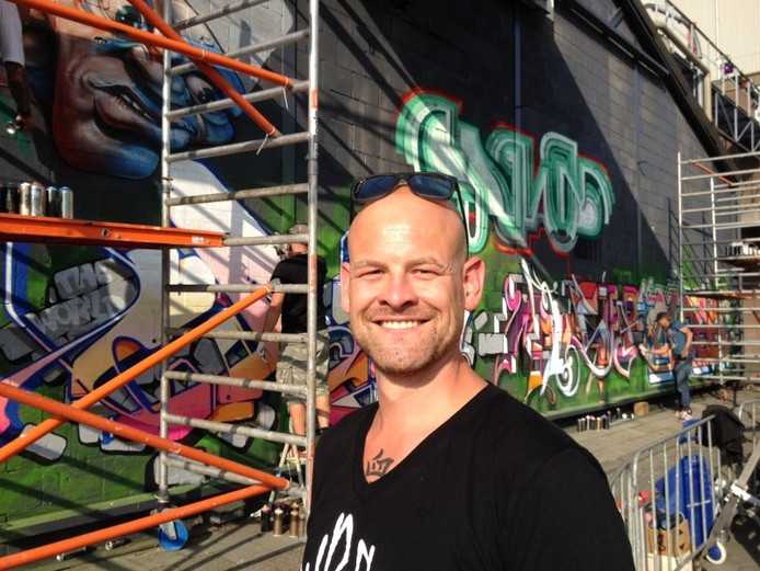 Jan-Henk van Ieperen van Kings of Colors tijdens een eerdere editie van het festival. Archieffoto: Robèrt van Lith/BD
