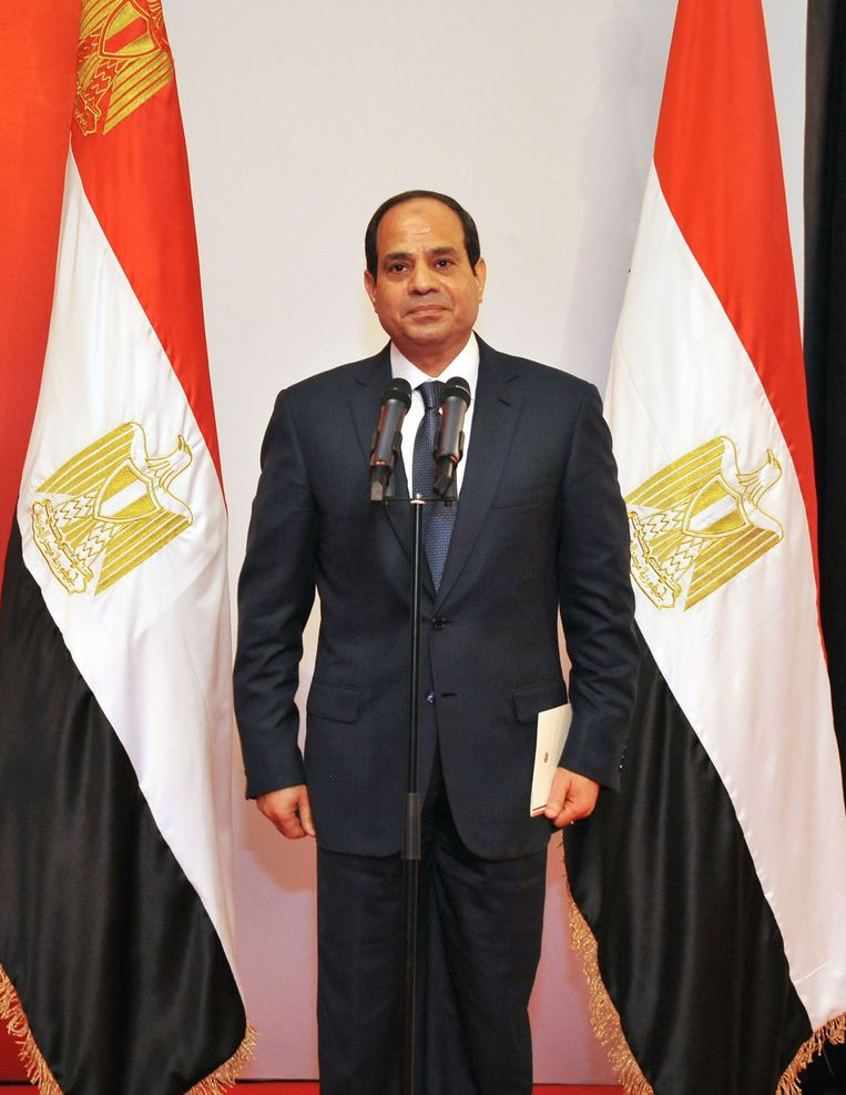President Abdel Fattah el-Sisi van Egypte. Beeld getty
