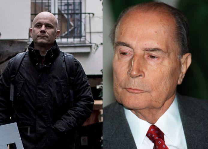 François Graner (links) krijgt inzage in de archieven van de Franse ex-president Mitterrand (rechts).