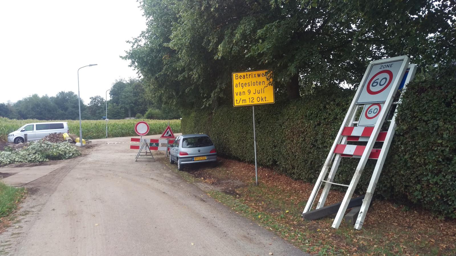 Eerder dit jaar werd ook in de buurtschap Hoorn al aan de weg gewerkt.
