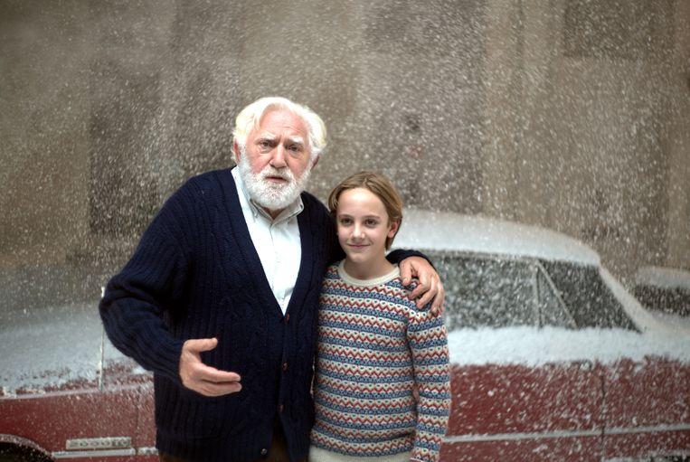 Jan Decleir en Mo Bakker op de set van 'De Familie Claus'.