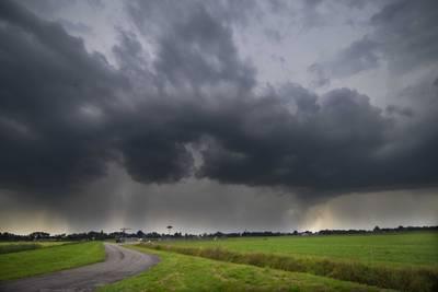Code geel afgegeven: onweersbuien en kans op hagel