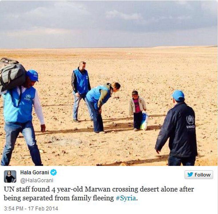 De tweet van de CNN-correspondente. Beeld screenshot