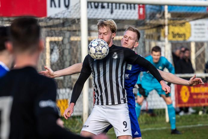 Wout Blasman scoorde tegen FC Bergh een hattrick voor Silvolde.
