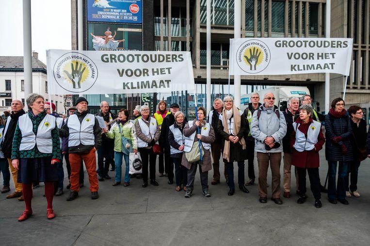 Ook grootouders voor het klimaat namen deel aan de mars.