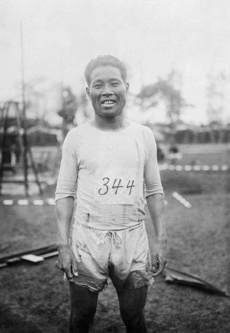 Shizo Kanakuri in 1924. Beeld Bettmann Archive